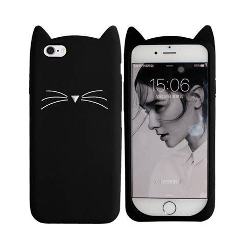 Casing Iphone 6 6s 3d Apple And X Custom Cover aliexpress buy beard cat for iphone 5 5s se 6 6s plus 7 7plus 3d soft silicone