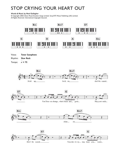 Oasis Stop Crying Your Heart Out Official Video Youtube | stop crying your heart out sheet music by oasis keyboard