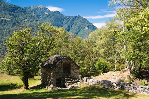 Mountain Cabin Plans lovely old stone house in beautiful landscape ticino