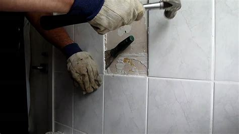removing tile from walls in bathroom removing bathroom tiles youtube