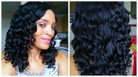 how to flexi rod relaxed fine hair flexi rod set tutorial relaxed hair youtube