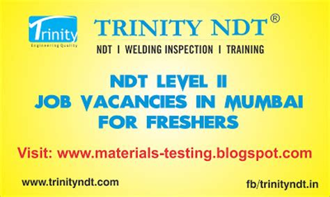 Management Trainee In Mumbai For Mba Freshers by Nabl Ndt Labs Ndt Welding Inspection Chennai