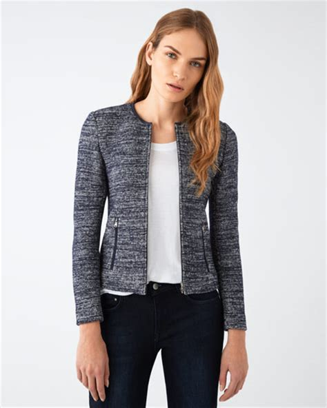 Jaket Cardigan See All S Sale Blue Knitted Marl Cardigan Jacket