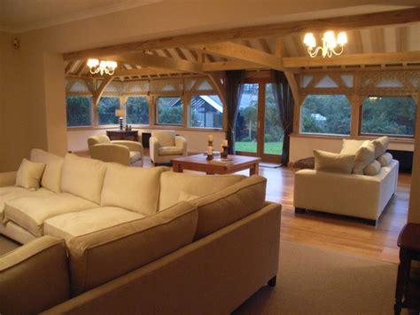 oak framed garden room traditional living room