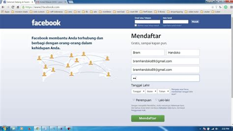 cara membuat facebook youtube tutorial cara membuat akun facebook 2015 bag 2 cara