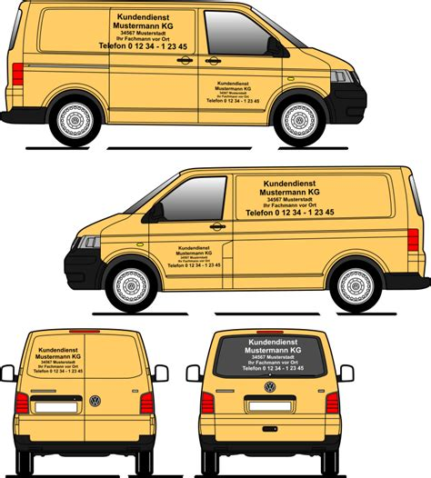 Fahrzeugbeschriftung Online autobeschriftung schilder autobeschriftung set 4