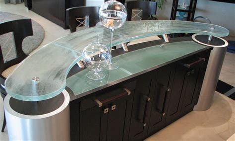 Curved Bar Counter Bar Curved Counter Tops Signature Glass By