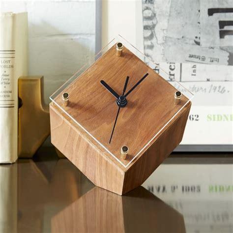 mid century modern desk clock mid century desk clock west elm