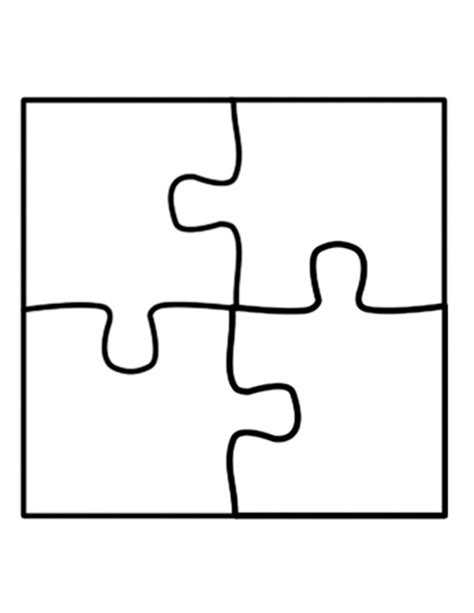 t puzzle template jigsaw outline clipart best