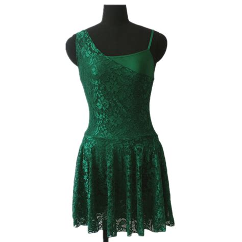 Top Dan Skirt Green Clpp8605 aliexpress buy green lyrical lace overlay skirts with shiny lycra camisole