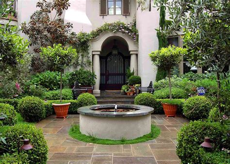 Small Mediterranean Garden Ideas Environmental Concept Earth Friendly Landscapes Santa Mediterranean Luxury Gardens In
