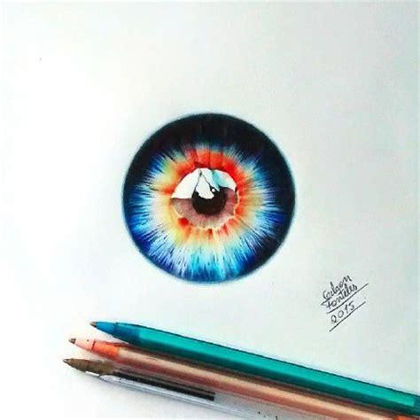 dibujos realistas con colores 唯美的眼睛图片大全