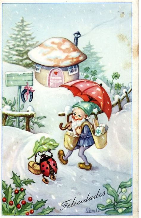 free vintage happy new year greeting cards elves with 19 best images about ladybug on toys
