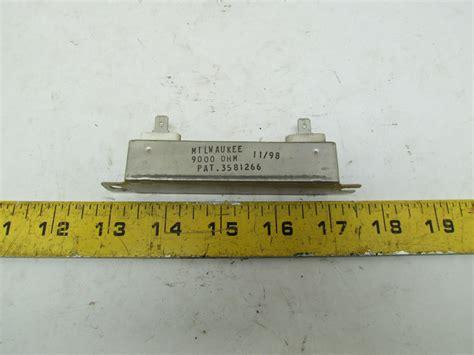 milwaukee resistors milwaukee 15 ohm resistor 2 pole spade lug pat 3581266 ebay