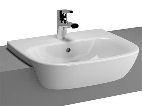 standard semi recessed sink vitra zentrum semi recessed basin