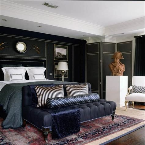 The 13 Most Elegant And Dramatic Masculine Bedroom Designs Masculine Bedroom Design Ideas