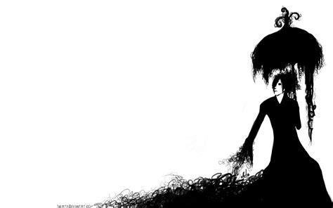 black and white gothic wallpaper gothic umbrella girl women black white vector art