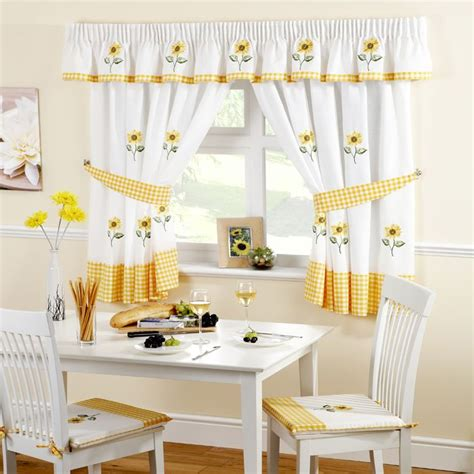 sunflower kitchen curtains available in 5 sizes kitchen