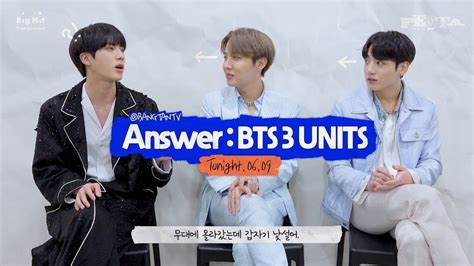 festa bts answer bts  units jamais vu song  jin    unit