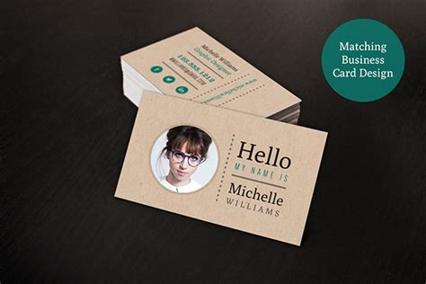 creative resume business card set on behance