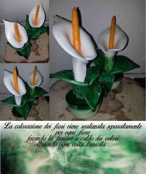 candela fiore candela a fiore calla per la casa e per te decorare