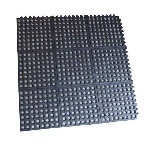 Pack Interlocking Rubber Floor Mats  Ft Square