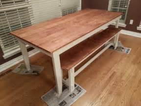 rustic kitchen table with bench white rustic table and bench diy projects