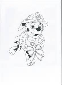 paw patrol coloring pages marshall images
