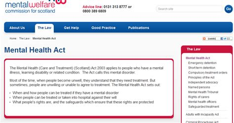 section 21 mental health act chrys muirhead mental health care and treatment