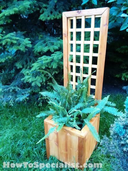 diy planter  trellis myoutdoorplans