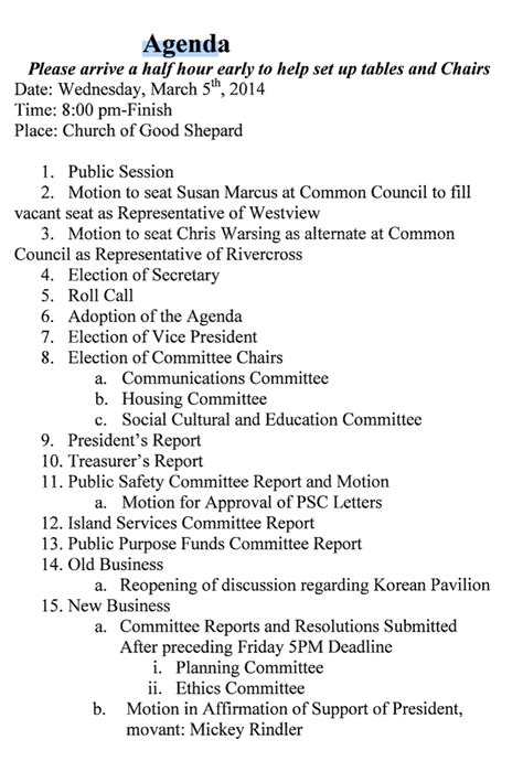 following example will next order is standing committee