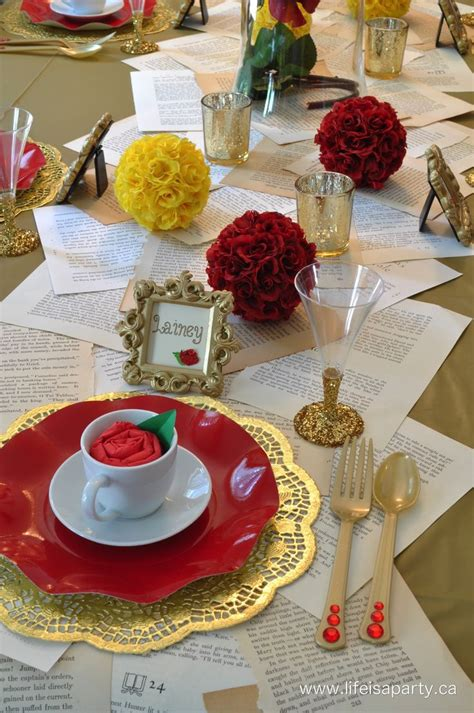 beauty and the beast table decorations beauty the beast beauty the beast pinterest