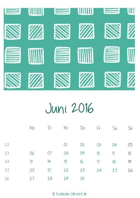 Juni Kalender 2016 Kalender 2016 Zum Ausdrucken Kostenlos