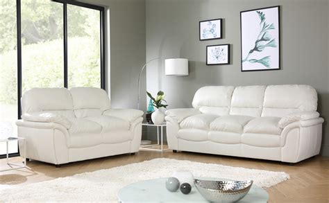 rochester ivory leather sofa suite  seater   furniture choice
