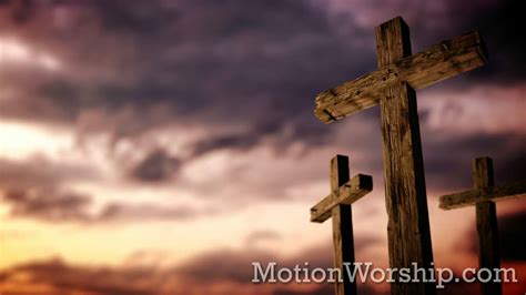 on that rugged cross rugged cross calvary sunset hd looping background by motion worship