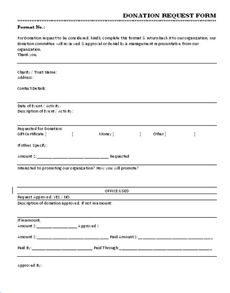 36 Free Donation Form Templates In Word Excel Pdf Sponsorship Request Form Template