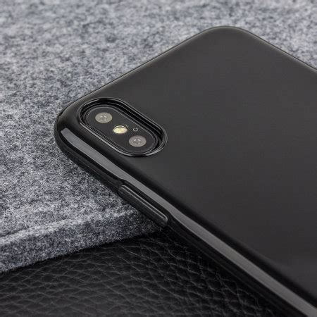 olixar flexishield iphone xs gel jet black