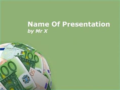 templates powerpoint money earth of money powerpoint template