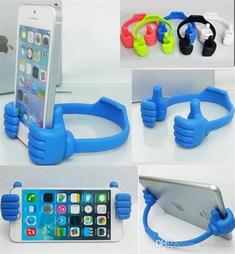 Ok Stand New fashion mini plastic ok stand thumb design universal portable phone stand holder mount for