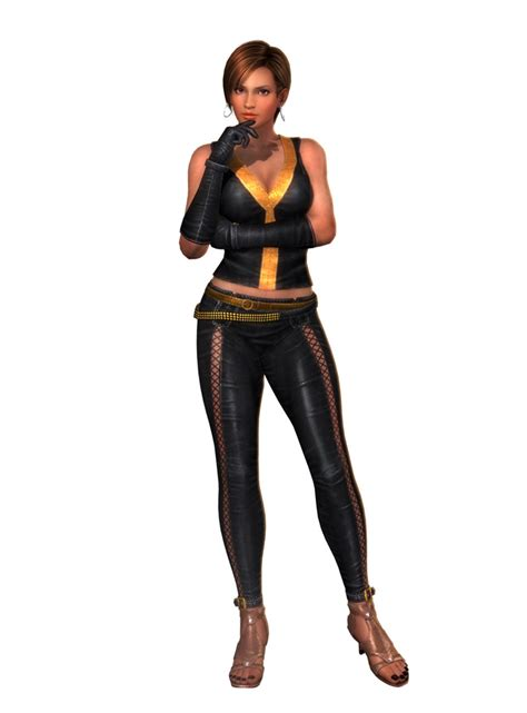 who is busty black lady in liberty mutual commercial dead or alive 5 s helena and lisa character art
