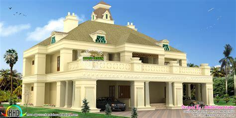 home design 600 square colonial villa in 600 square meter kerala home design