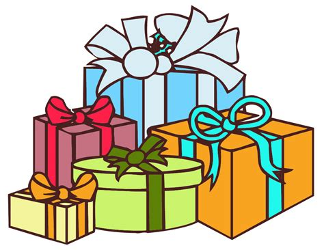 picture of many gifts clipart