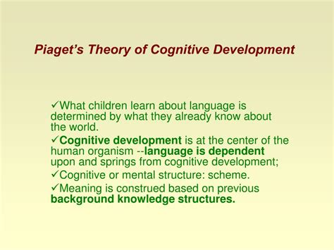 Cognitive Development Theory Ppt Theories Of Language Acquisition Powerpoint