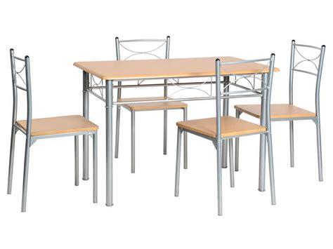 ensemble table rectangulaire 4 chaises de cuisine tutti ensemble table 4 chaises sernan coloris gris h 234 tre