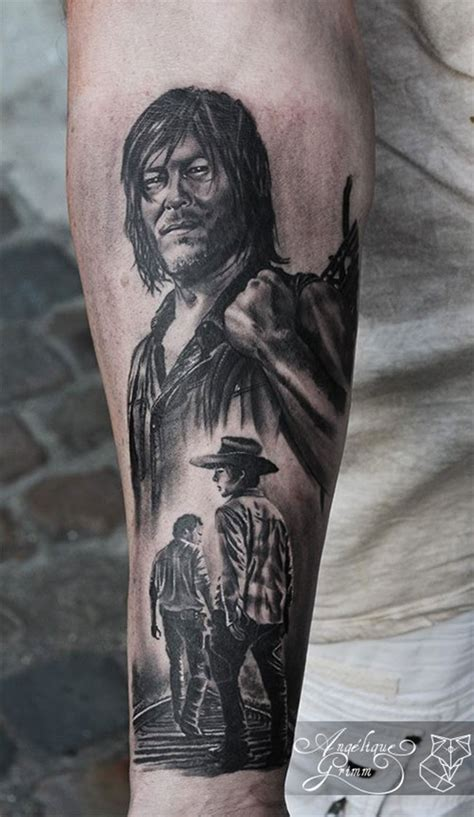 the walking dead tattoo s 233 lection de 15 tatouages sur l univers de the walking