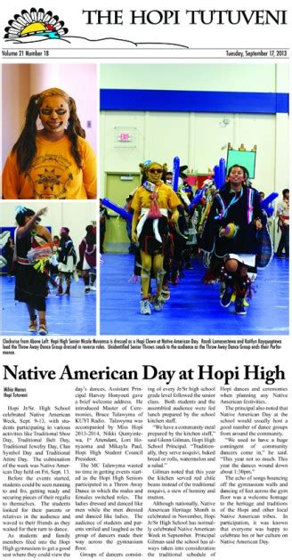 newspaper layout indd sept 17 tutuveni layout indd the hopi tribe