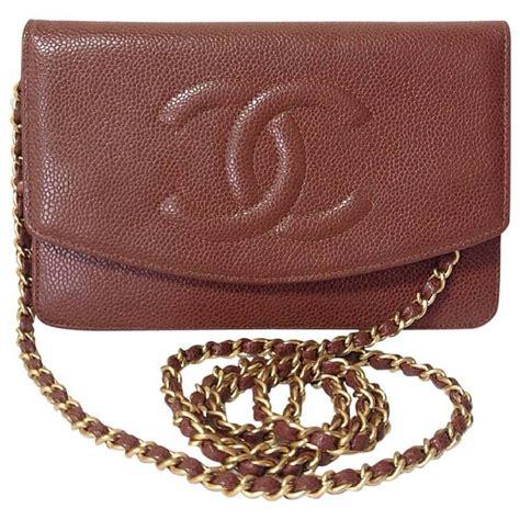 Clucth Chanel 10 mint vintage chanel brown caviarskin shoulder clutch