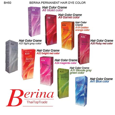 Slightly Punky And 90s Inspired By Magenta by Berina Permanent Hair Dye Various Color Colour Punky