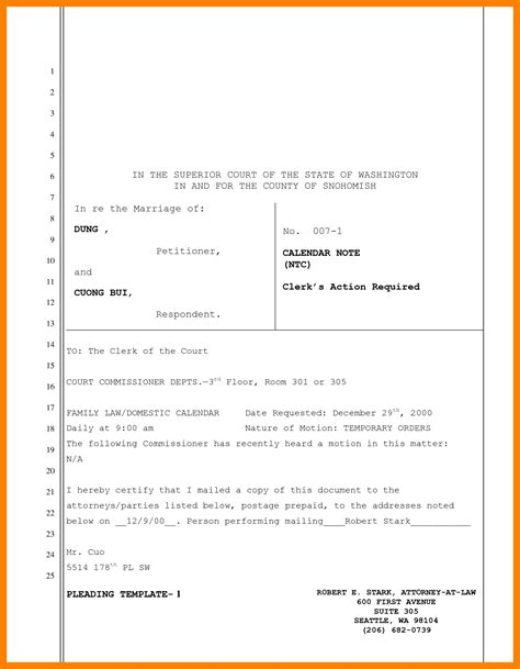 9 legal motion template resume sections