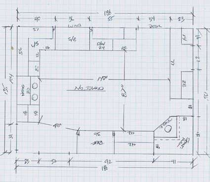 area of a floor plan l